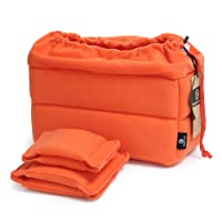 """Koolertron Padded Shockproof Foldable Partition Camera Insert Protective Bag For SONY Canon Nikon DSLR Shot Or Flash Light -10.6""""x6.3""""x4.7"""""""
