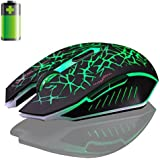 Mouse of computer Clode® 2.4GHz Wireless 7D Rechargeable 2400DPI 6 Buttons Optical Gaming Mouse for computer (Green )