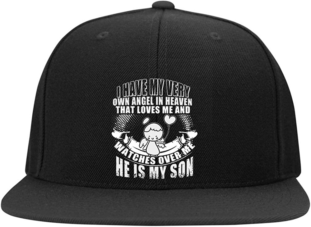 He is My Son Cap I Love My Son Profile Snapback Hat