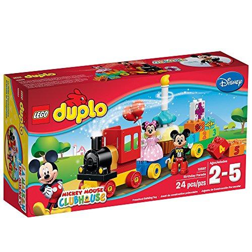 61CPbfxwY9L - LEGO Duplo l Disney Mickey Mouse Clubhouse Mickey & Minnie Birthday Parade 10597 Disney Toy