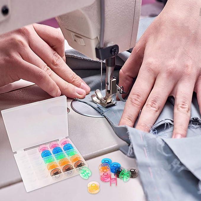 Dorhea - Juego de 25 cubos para máquina de coser con funda para ...