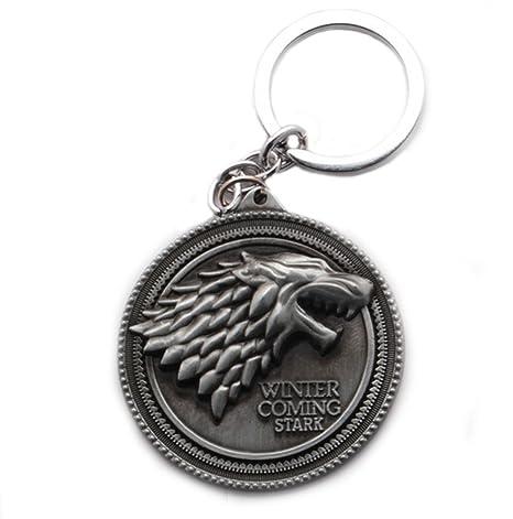 Juego de Tronos Stark aleación llavero llavero colgante de ...