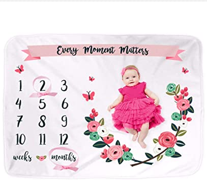 PipsyDesigns Baby Milestone Blanket Month Blanket Baby Baby Growth Tracker Fleece Blanket Tribal Baby Newborn Gift