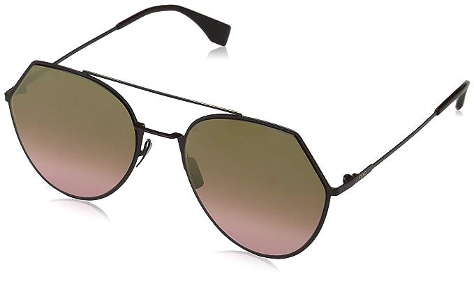 23f86d599e7f Amazon.com  Fendi FF0194 S 0T7 Plum FF0194 S Round Sunglasses Lens ...
