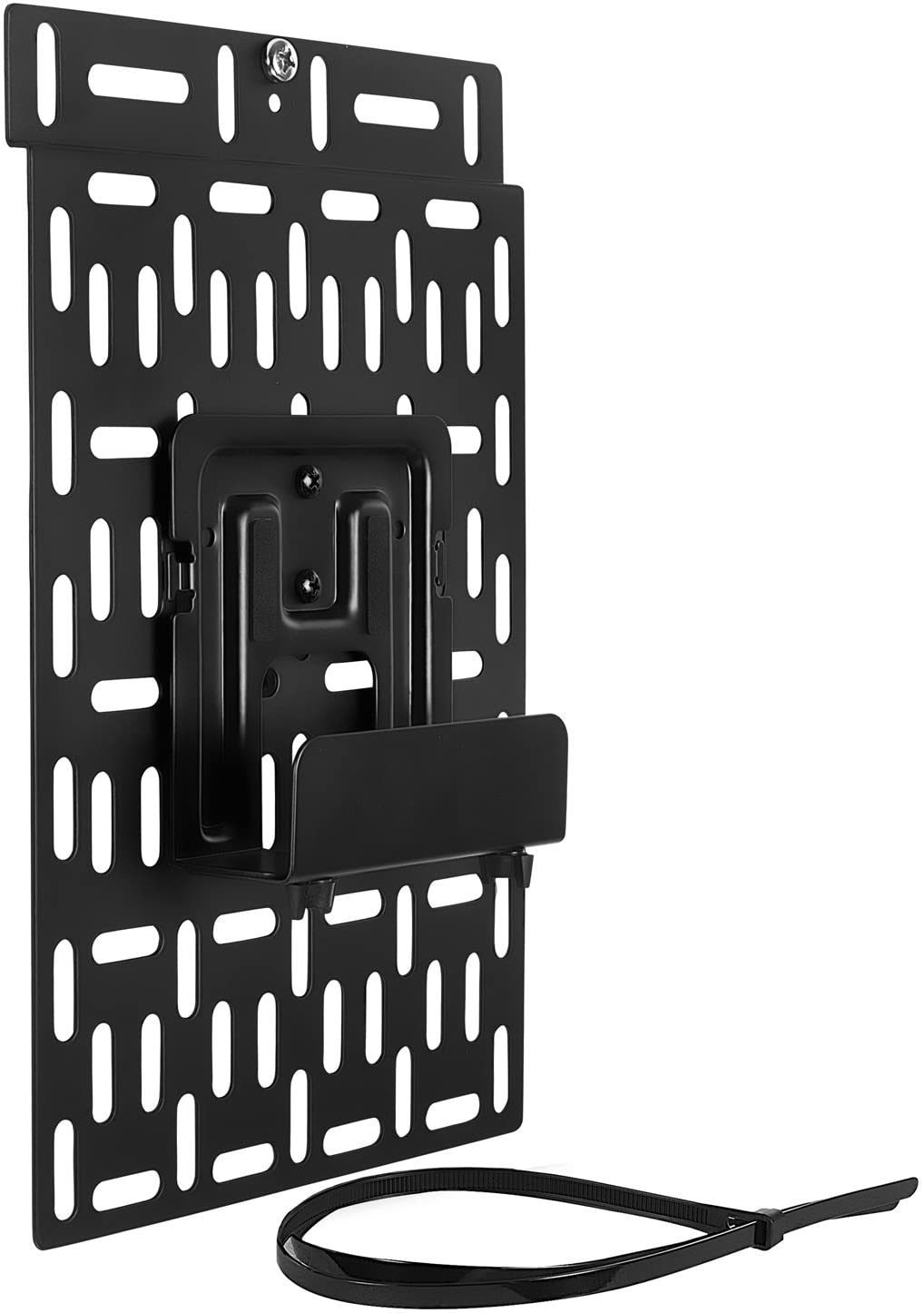 Mount-It! Cable Box Mount Behind TV | Adjustable Universal Mounting Bracket for Streaming Devices, Router, Modem, DVD | Wall and Behind TV Compatible, Steel