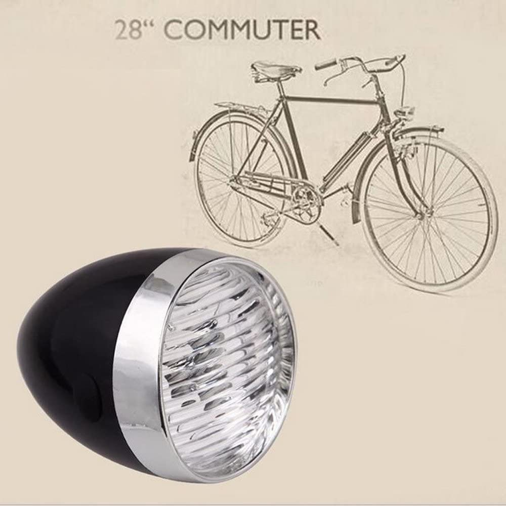 HCDjgh Bicycle Lights Front and Rear Rechargeable,Retro Bike Led Front Light Headlight Vintage Flashlight Lamp New Cycle Zone Headlights ღ