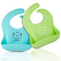 Silicone Baby Bibs - Waterproof, Easy Wipe Silicone Bib for Babies, Toddlers - Baby...