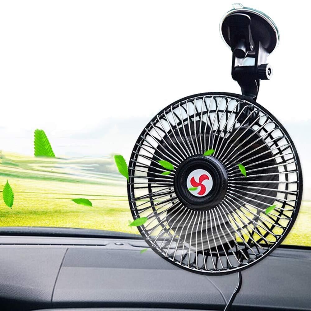 Saturey Car Fan Suction Cup, Car Car Fan Mini Fans Car Cooling Fan Car Fans Summer Cooling,12V