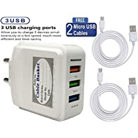 cableBasket-winto Universal 3-Port USB 3. 1 Ampere Turbo Mobile Charger (White)