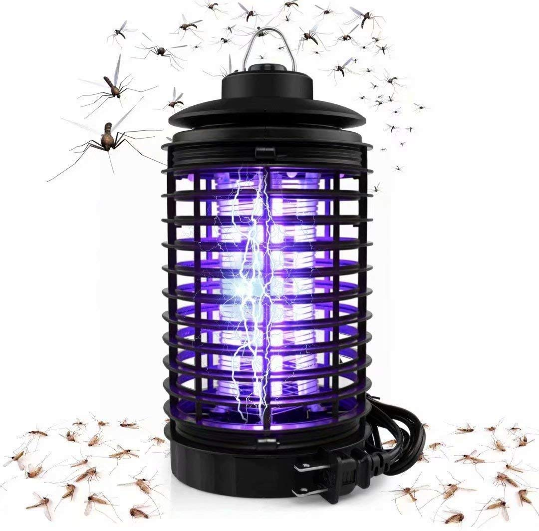 Kenneth Wagner Electric Bug Zapper, Powerful Mosquito Trap, Light-Emitting Mosquito Lamp with Hook, Flying Insect Trap for Indoor(Black) by Kenneth Wagner