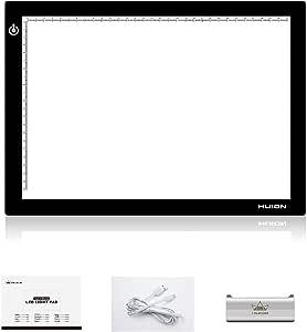 HUION L4S Caja de luz LED Portable Tablero de Calco ultra fino Alfombrilla de luz de Iluminación Ajustable: Amazon.es: Hogar