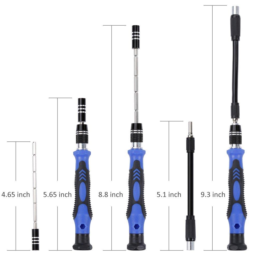 Vastar Precision Screwdriver Set, 63 in 1 with 56 Magnetic Screwdriver Bits, Repair Tool Kit for iPhone 7/7 Plus, Smartphones, Tablet, PC, Macbook, Clock and More by Vastar (Image #4)