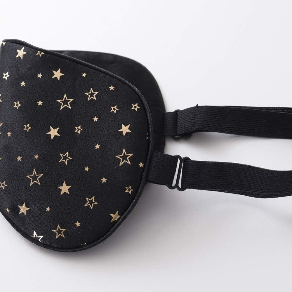 Tim&Tina Silk Sleep Mask Comfortable Blindfold Eye mask Adjustable (Golden Stars): Home & Kitchen