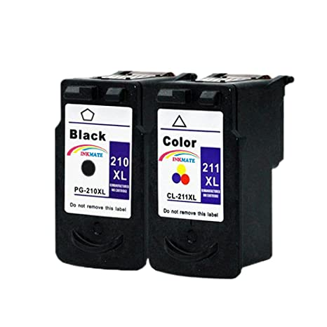 INKMATE Remanufactured Ink Cartridge Replacement For Canon PG 210 XL CL 211