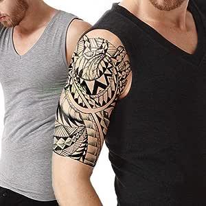 Handaxian 3pcs Impermeable Tatuaje Totem Tribe Posterior del ...