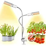 Bozily 45W LED Gooseneck Grow Light Clip on Plant Lamp Led Grow Lights for Indoor Plants Full Spectrum with 2 Replaceable Bul