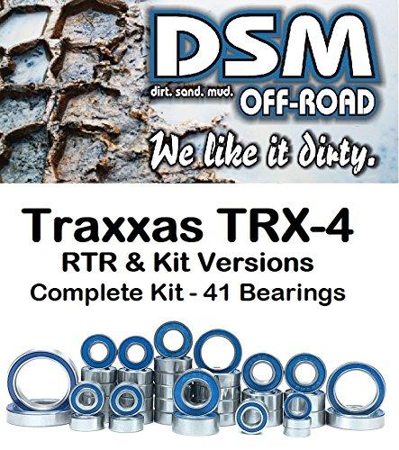 One Bearings Set (Traxxas TRX-4 Complete Sealed Bearing kit Set (41 Bearings) Sport, Bronco, Defender)