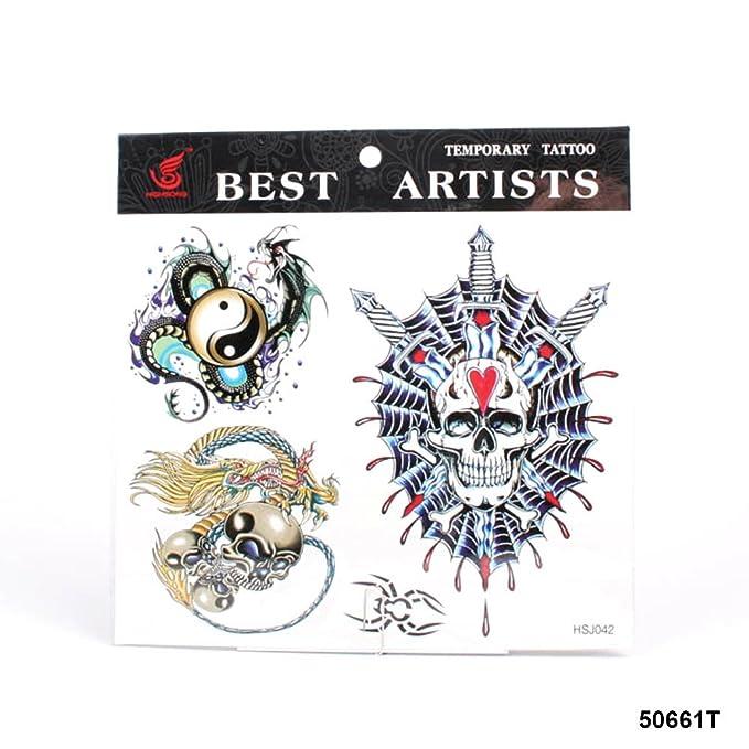 grandes tatuajes Yin y Yang con Leviathan, Calavera Cráneo con ...