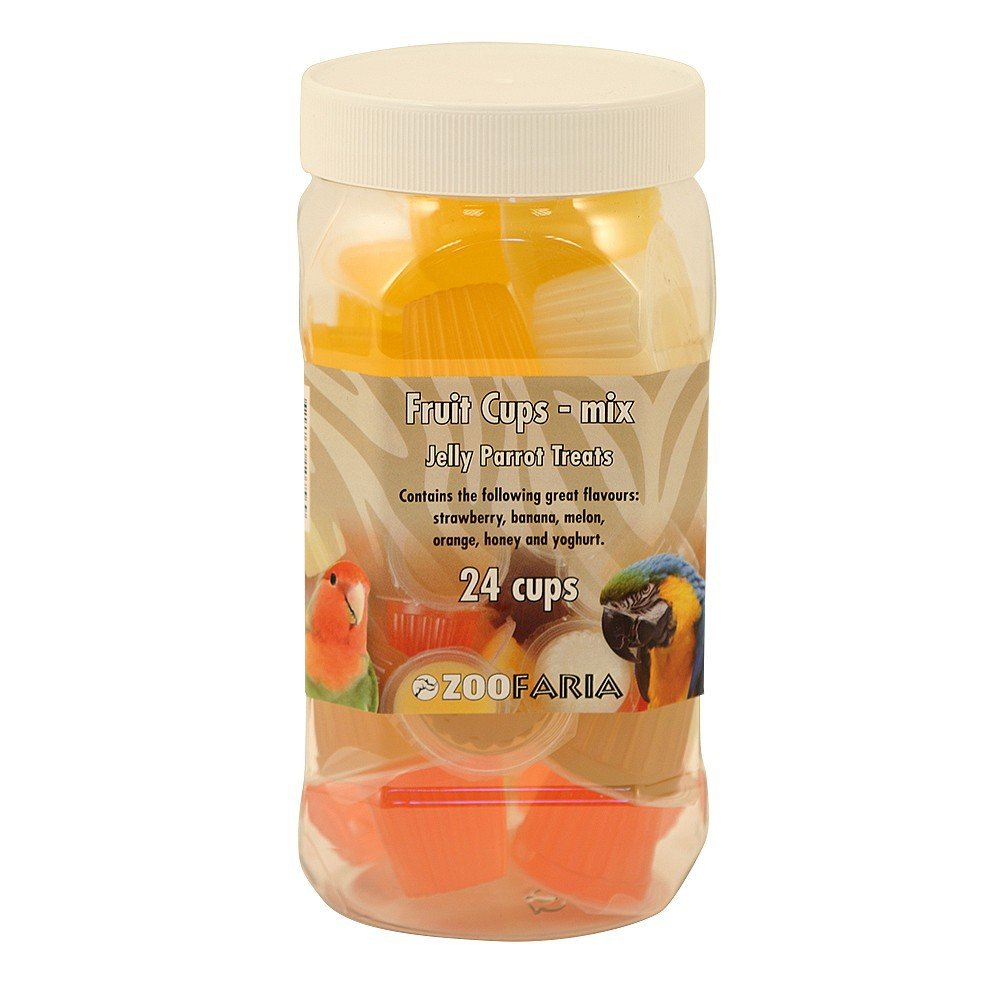 Assortiment de fruits Cups – Jelly Parrot Friandises 6 Fruit Cups