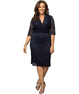 0ec7b0c0973 Kiyonna Women s Plus Size Valentina Illusion Dress at Amazon Women s ...
