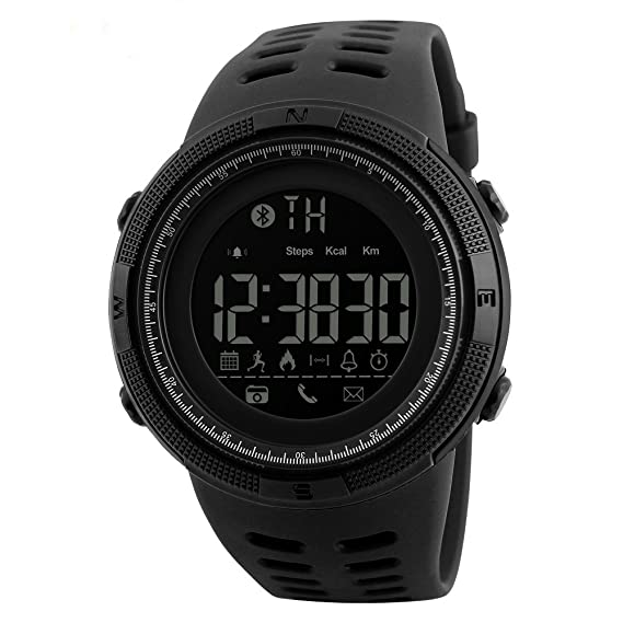 SKMEI 1250 Smart Watch Pedometer Calories Clocks Waterproof Digital  Wristwatches Outdoor Sports Watches (black) 37b7c2804e