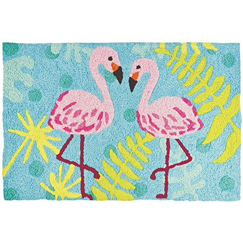 Jellybean Flamingo Friends Coastal Indoor/Outdoor Machine Wa