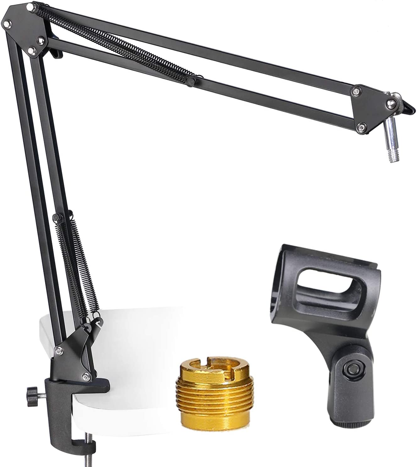 Mic Boom Arm Stand Adjustable Microphone Stand Swivel Mount for Blue Snowball AT2020 and Other Mic by YOUSHARES
