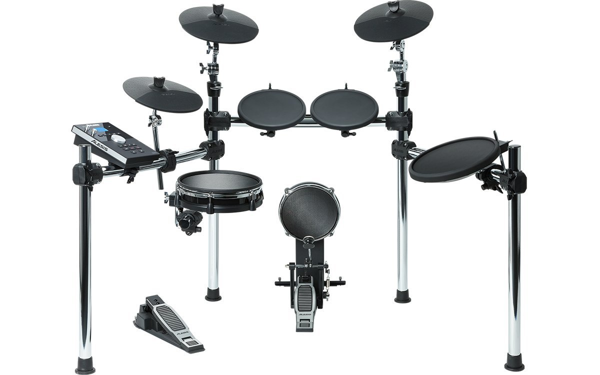 Alesis Command Kit | Eight-Piece Electronic Drum Set with Mesh Snare and Mesh Kick and USB Port for User-Loaded Samples