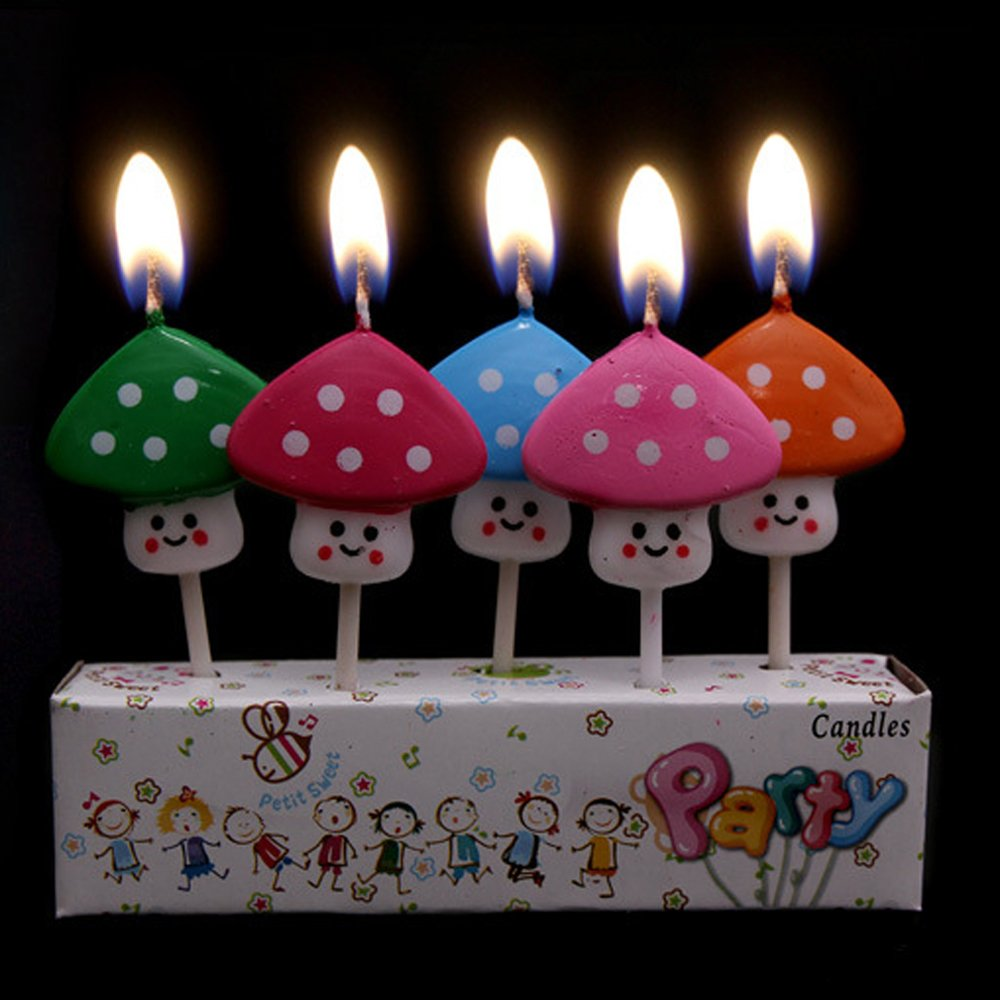 Ecape Cartoon Animal Party Candles Cute Handmade Craft Western Cake Decoration 5