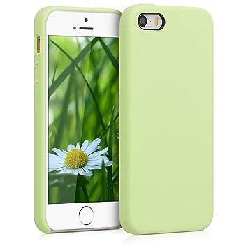 kwmobile Funda para Apple iPhone SE / 5 / 5S - Carcasa de [TPU] para teléfono móvil - Cover [Trasero] en [Verde Pistacho]