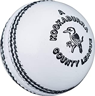 Kookaburra Cricket County League Ballon en Cuir Durable Cousu à la Main