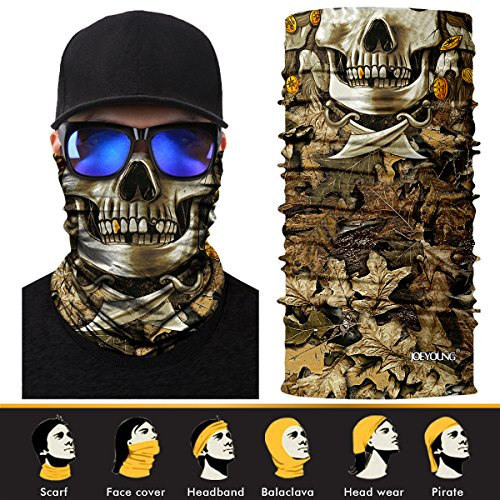 3D Face Sun Mask, Neck Gaiter, Headwear, Magic Scarf, Balaclava, Bandana, Headband for Fishing, Hunting, Yard work, Running, Mortorcycling UV Protection, Great for Men & Women