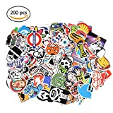 Sticker Pack [200-Pcs], GOBIKE Lovely Vinyl Stickers for Laptop, Cars, Motorcycle, Bicycle, Skateboard, Luggage - Waterproof Random Sticker Pack