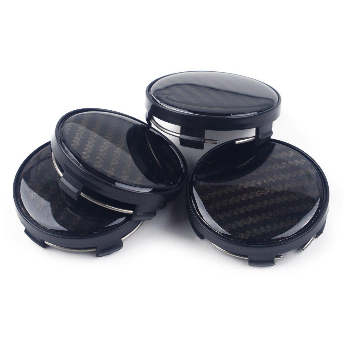 Radkappen Felgenkappen Passen auf Felgen mit 58-60mm Radloch beler 1 Satz 4 STK x60mm Schwarze NABENKAPPEN