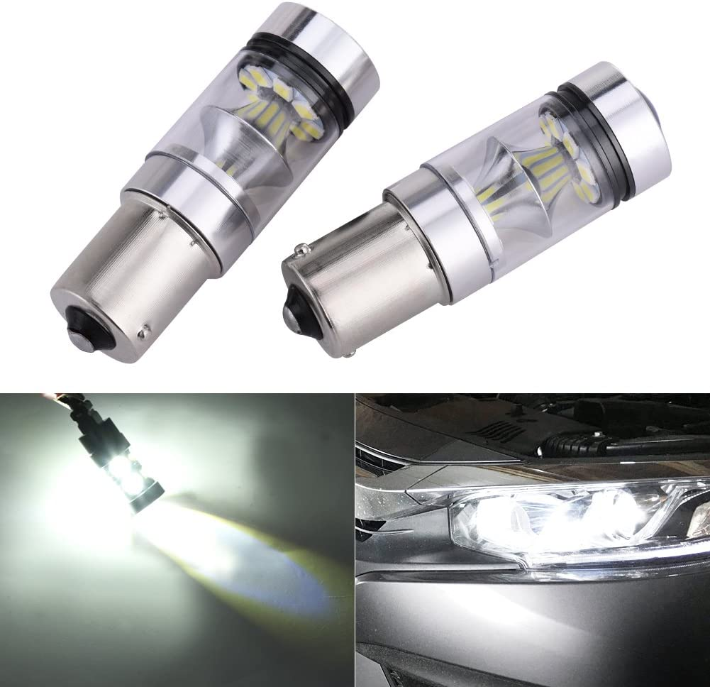 Catinbow 2 Pcs Extremely Super Bright 1156 1141 1003 1073 BA15S 7506 50 SMD LED Replacement Light Bulbs for Back Up Reverse Lights,Brake Lights,Tail Lights,Rv lights 6000K Xenon White(12V-24V)