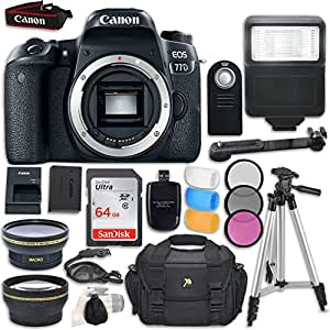 Amazon.com : Canon EOS 77D DSLR Camera Body Only   Accessory Bundle : Camera \u0026 Photo