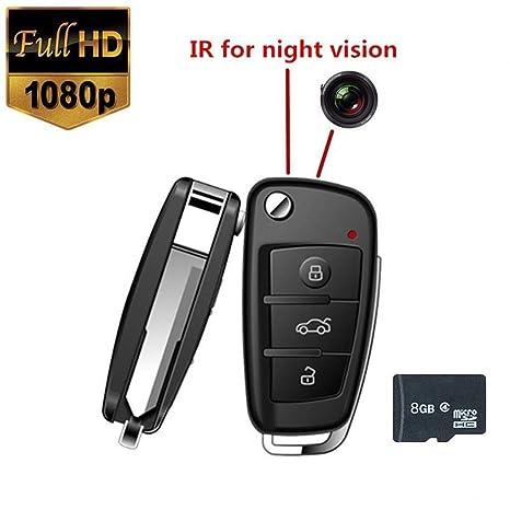 Electro-Weideworld - HD 1080p 8GB coche llavero Cámara Espía Mini cámara DVR de detección