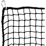 Heavy Duty Golf Netting High Impact Practice Barrier Net. Ball Containment for Hitting, Driving and Chipping. Black Netting w
