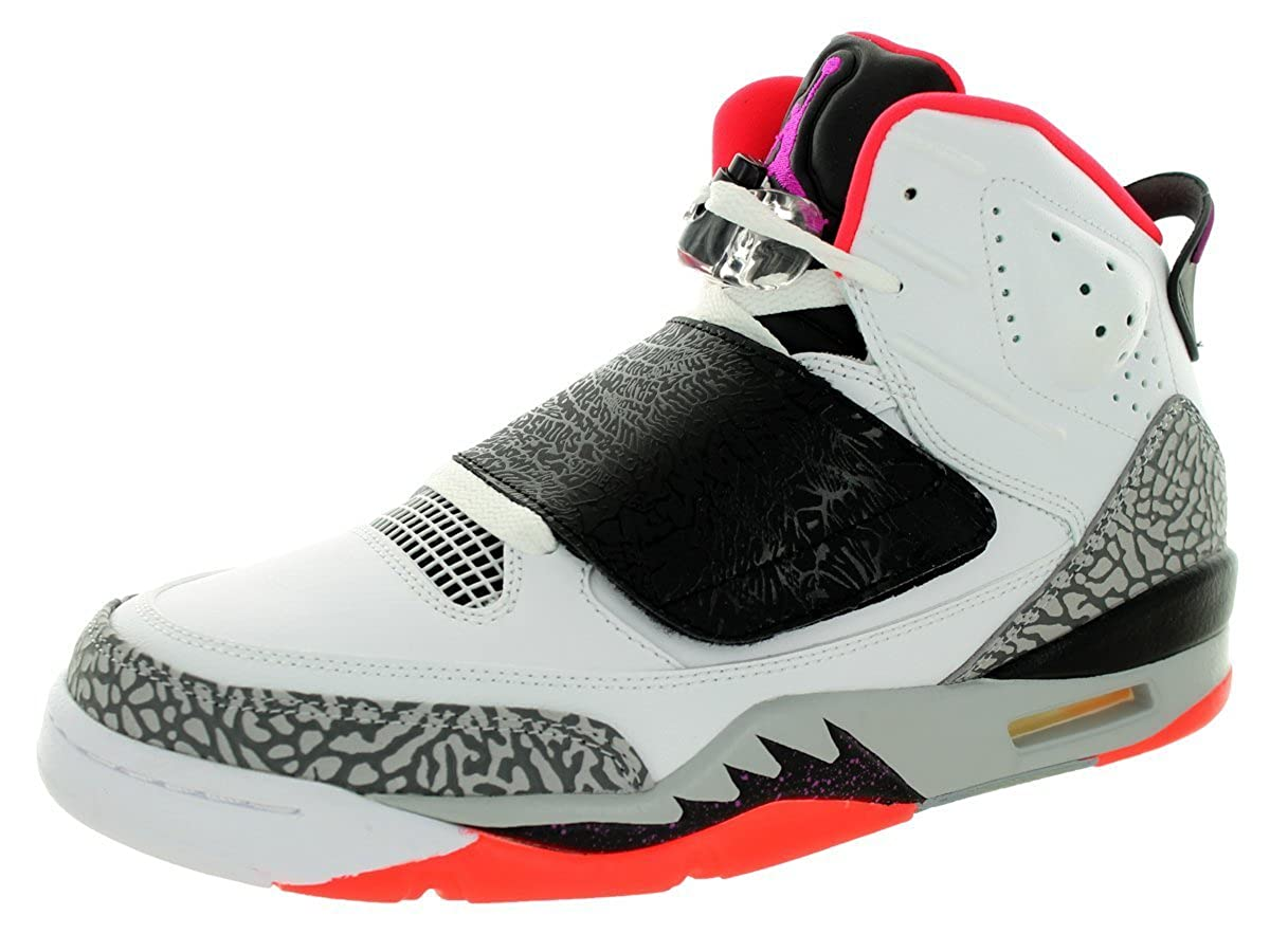 512245-105 AIR Jordan Son of Mens Shoes White FCHS Flash Black WLF Gry