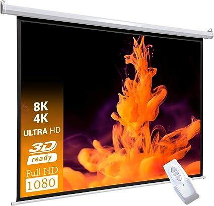 Celexon Basic line pantalla motorizada 240 x 240cm, pantalla de ...