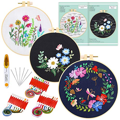 Caydo 3 Sets Embroidery