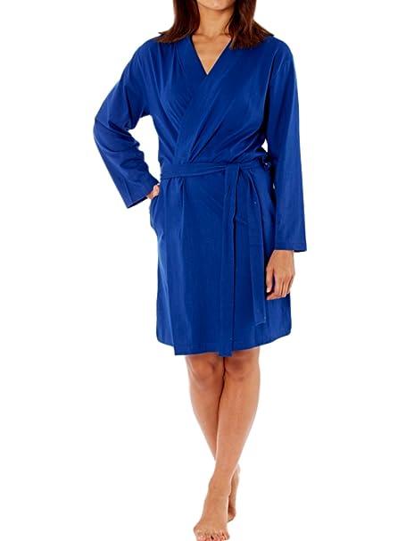 Lady Selena - Vestido - kimono - Manga Larga - para mujer Navy Cotton Jersey