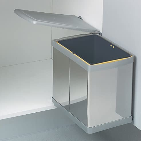 Wesco Einbau Abfallsammler 16L Edelstahl Mülleimer Abfalleimer