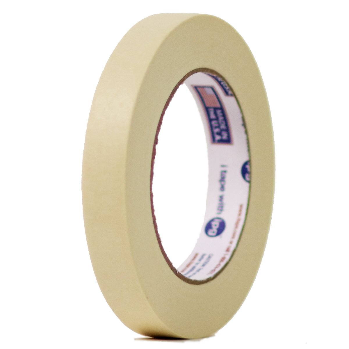 48 Rolls Intertape 513 - 3/4 Inch X 60 Yards -Industrial Professional All Purpose Utility Grade Paper Masking Tape - Natural Color - 48 Rolls per Case