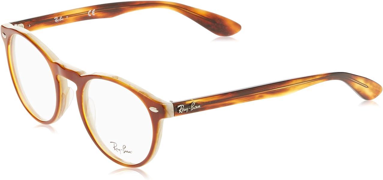 36013f7522a Amazon.com  Ray-Ban Men s RX5283 Eyeglasses Top Havana Brown Horn ...