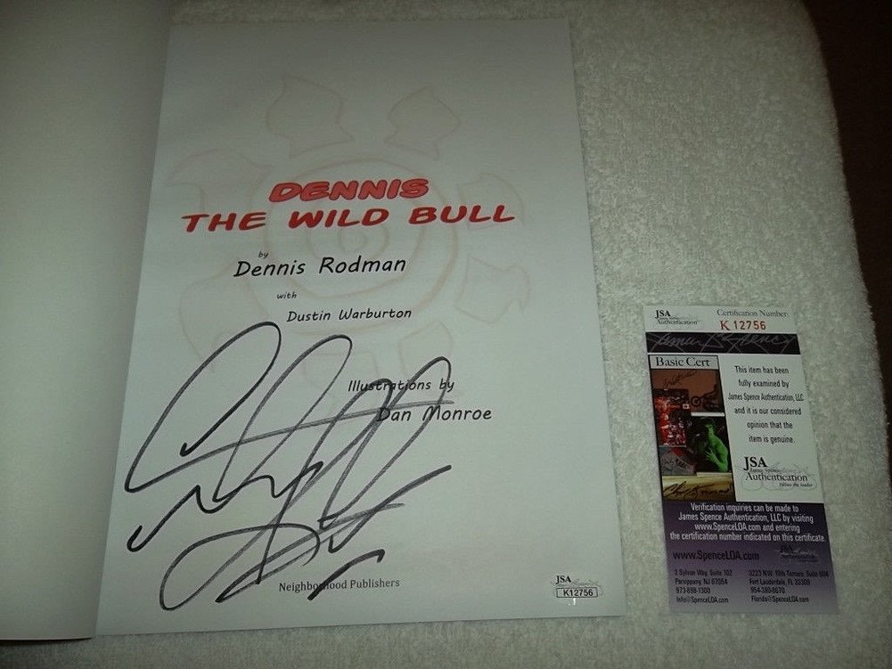 Dennis Rodman Signed Dennis The Wild Bull Childrens Book JSA #12756 Paperback