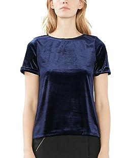 ESPRIT Women's 116CC1F024 Blouse, Blue (Navy), 36 ( Small)