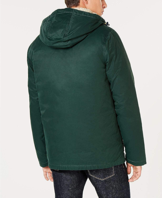 Tommy Hilfiger Mens Hilltop Hooded Coat Large Green