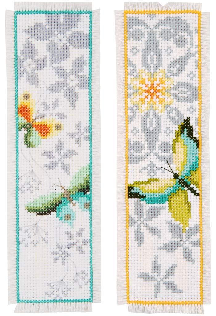 Vervaco farfalla segnalibro a punto croce,, set di 2 PN-0165133