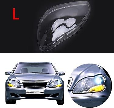 Jade Left Side Headlight Headlamp Lens Plastic Shell Cover For Mercedes Benz W220 S350 S600 2000-2006